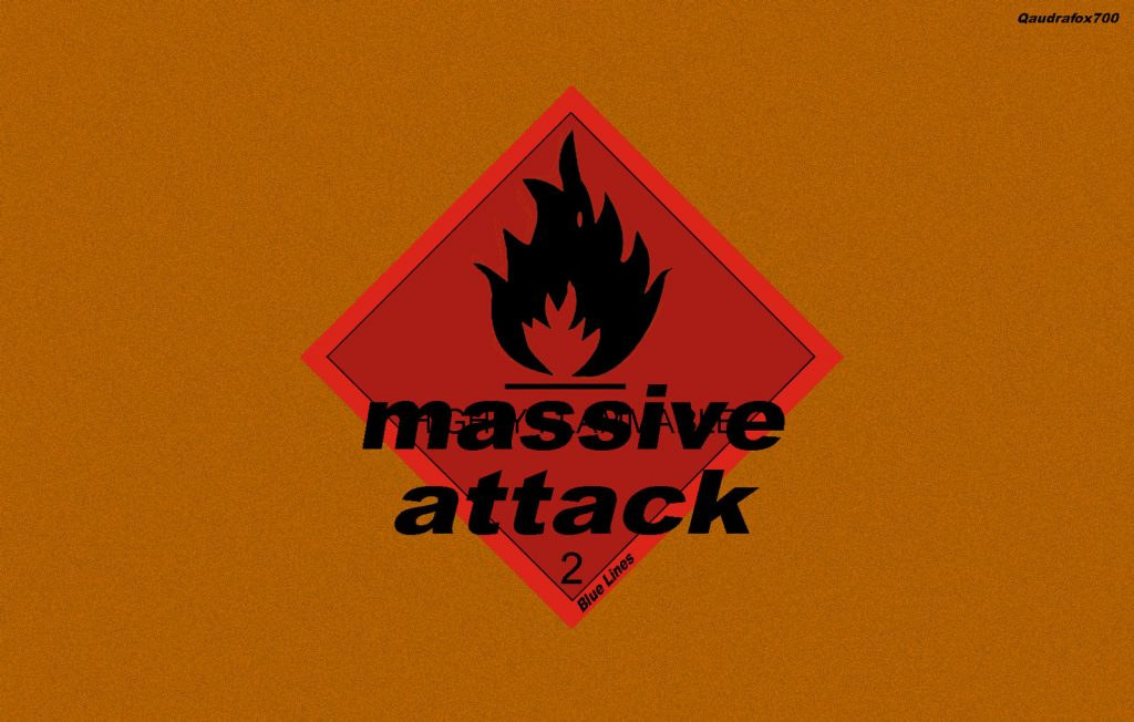 Portada expandida del primer disco de Massive Attack.