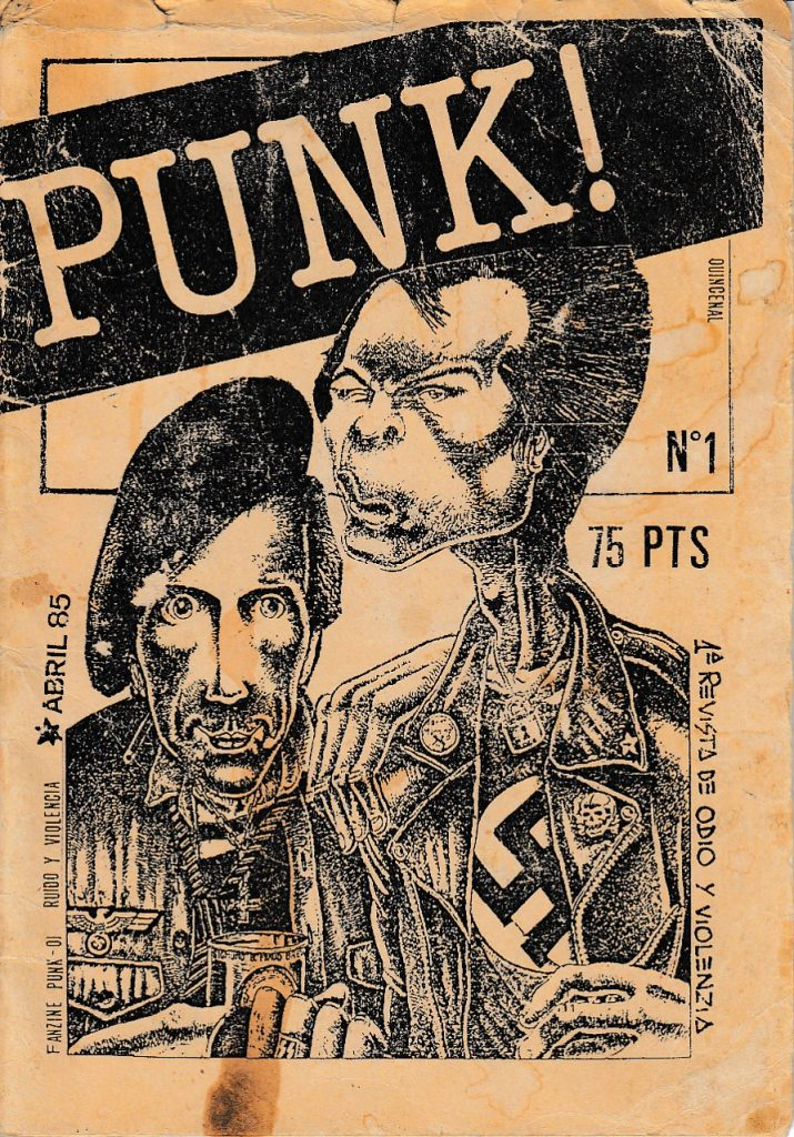 "Nostalgia del fanzine pop que quizá ya no vuelva. Portada del fanzine ""Punk!"""