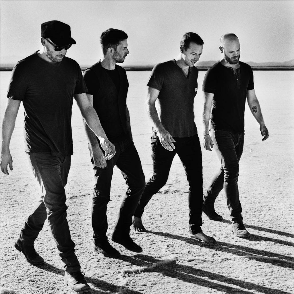 Imagen promocional reciente de Coldplay.
